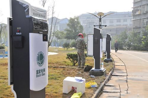 聊城今年计划在城区建12个电动汽车充电桩