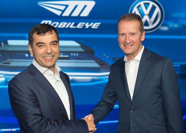 大众Mobileye签署合作协议发展自动驾驶