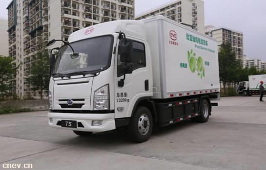 信赖源于品质 比亚迪T5获新能源物流车推优奖
