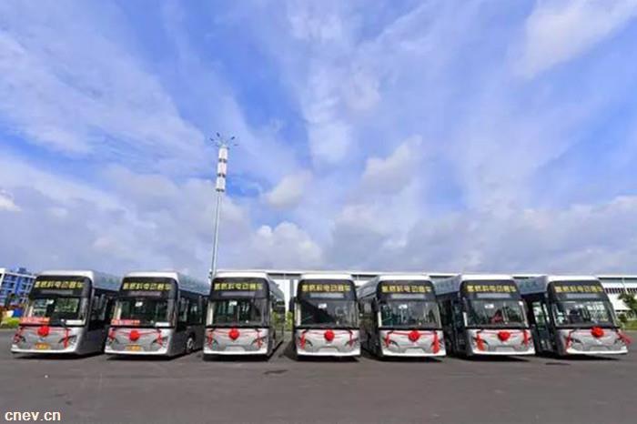 全国首条商业化运营的氢能源公交车在云浮开通