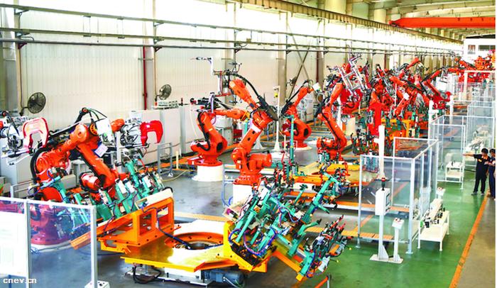 纯电动全铝车身生产线亮相合肥 助推汽车行业轻量化发展