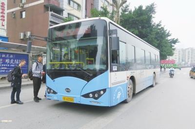 广安首批75辆纯电动公交车正式上线试运营