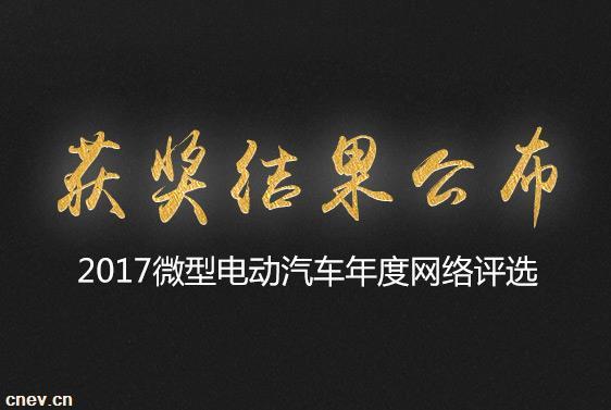 欣联达不负众望 入选2017微型电动汽车年度网络评选前十!