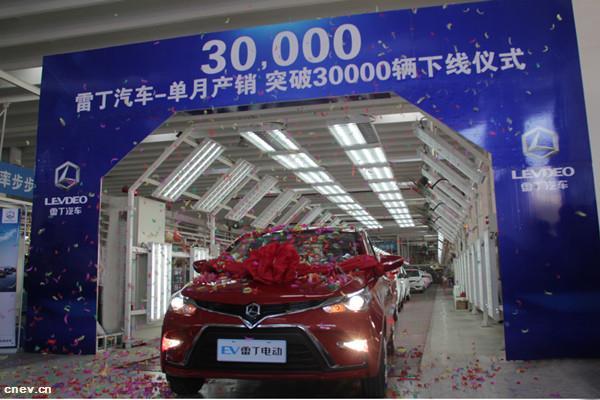 雷丁汽车单月产销双破30000辆  2017创行业纪录完美收官