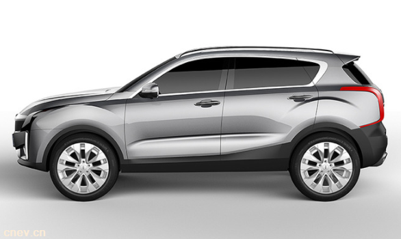 观致2 SUV量产版效果图曝光 或将推纯电动版