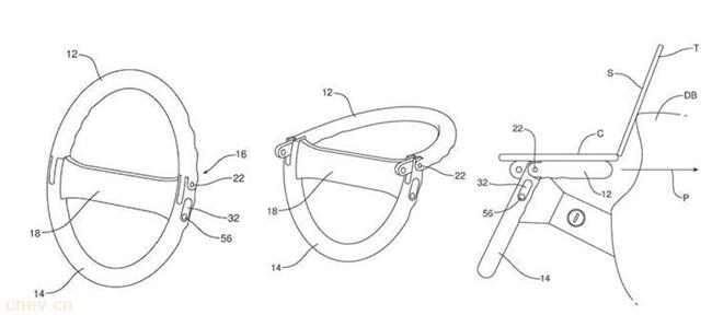 福特折叠式方向盘专利获批 可用作笔记本电脑支架