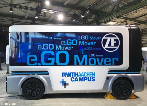 兼备电动化与自动化的e.Go巴士将于2019年实现量产