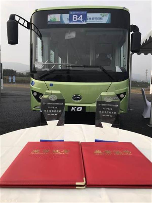 出击!比亚迪K8获新能源公交车性能评价赛两项大奖