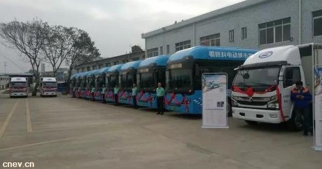 广东佛山:70辆氢燃料电池公交车正式交付