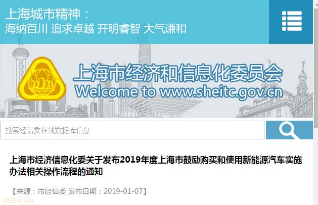 政策 | 上海:鼓励购买和使用新能源汽车