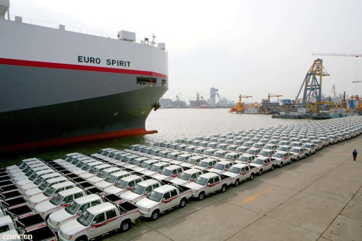 数据 | 1月份中国汽车出口增加16.3%至9万辆