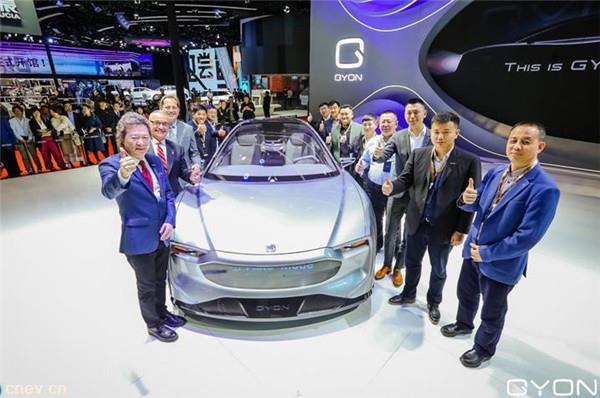 新特高端電動汽車品牌GYON,攜首款旗艦車型亮相上海車展