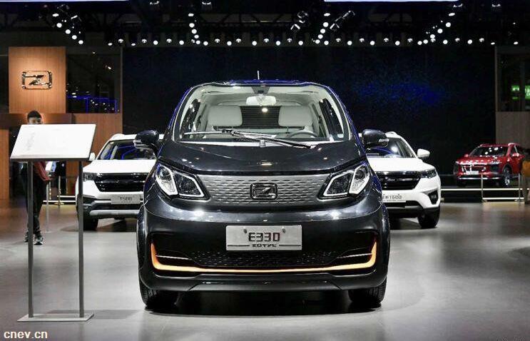 2019年上海车展:众泰E330升级后正式亮相