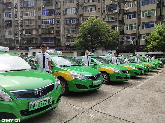 南昌市租推出首批新能源纯电动出租车