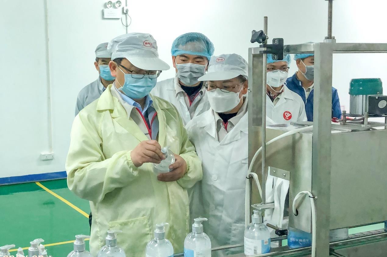 抗击疫情!比亚迪医用级免洗手消毒凝胶日产30万瓶