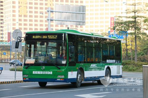 78台金旅新能源公交车投入佛山南海区运营