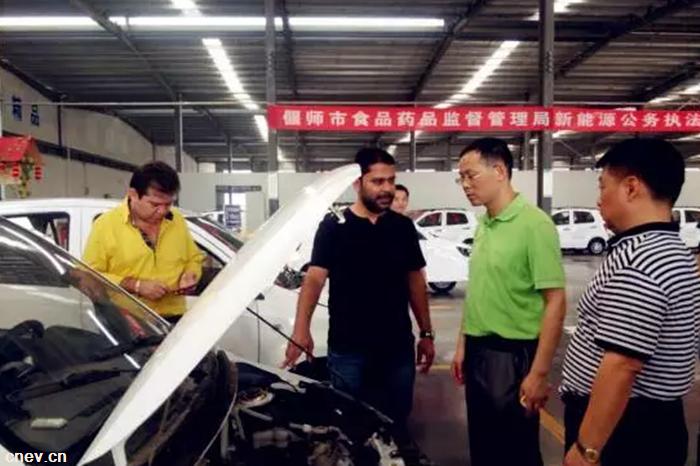 外宾到访参观新能源车辆 大河拓展海外市场