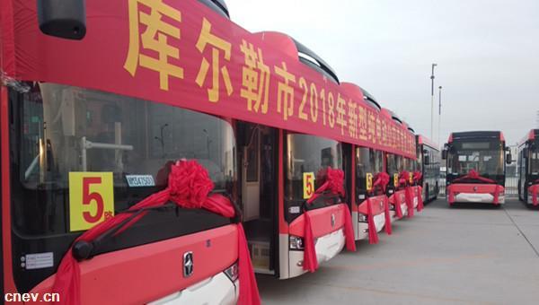 新疆库尔勒:首迎300辆亚星纯电动公交