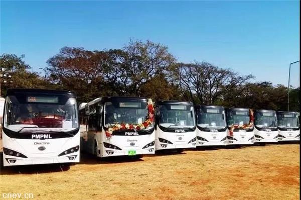 比亞迪獲125臺追加訂單 印度浦那迎最大純電動大巴車隊