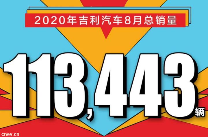 科技吉利再提速!吉利汽车8月销量113,443辆,同环比大涨